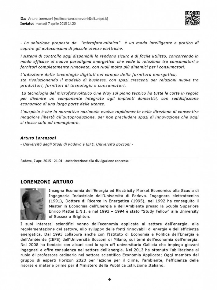 7 Apr. 2015 - Dr. Arturo Lorenzoni